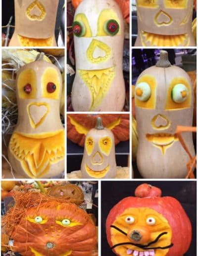 Carving gourmand d'automne - Citrouille d'Halloween